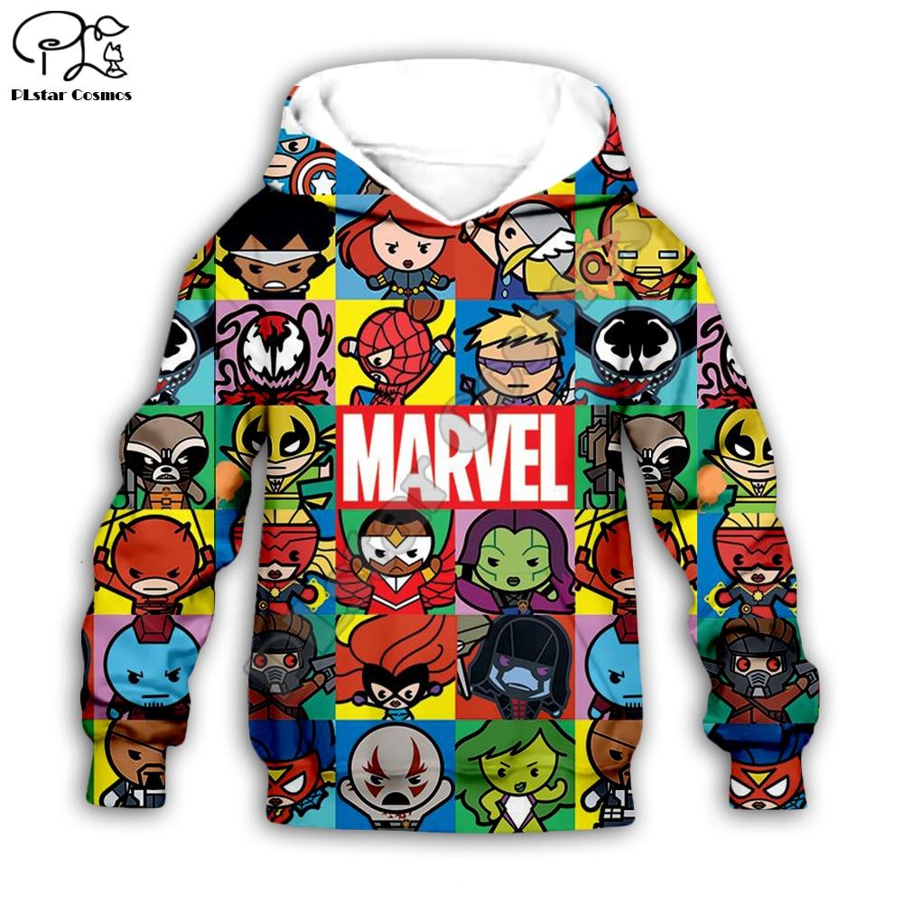 Boys Girls Hoodies Sweatshirts The Avengers Endgame 3D Print Marvel Superhero Captain America Iron Man Sweatshirt Kids Tracksuit
