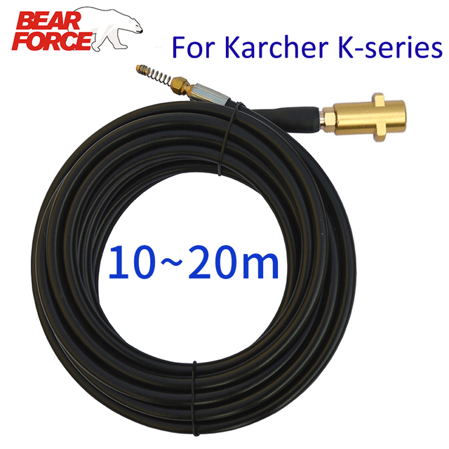10~20 Meters 2320psi 160bar Sewer Drain Water Cleaning Hose Pipe Cleaner for Karcher K2 K3 K4 K5 K6 K7 High Pressure Washer