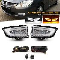 Faro LED DRL para Mitsubishi Lancer 2004 2005 2006, luz diurna antiniebla, Luz antiniebla del parachoques delantero