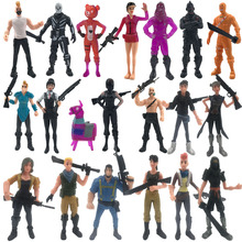 PVC Characters + Weapons Game Fortnight Battle Royale Kids Collection Models Doll Fort night Action anime Figure Toys fortnight battle royale toy model the tactical shot gun keychain alloy weapons kids toy collection decoration