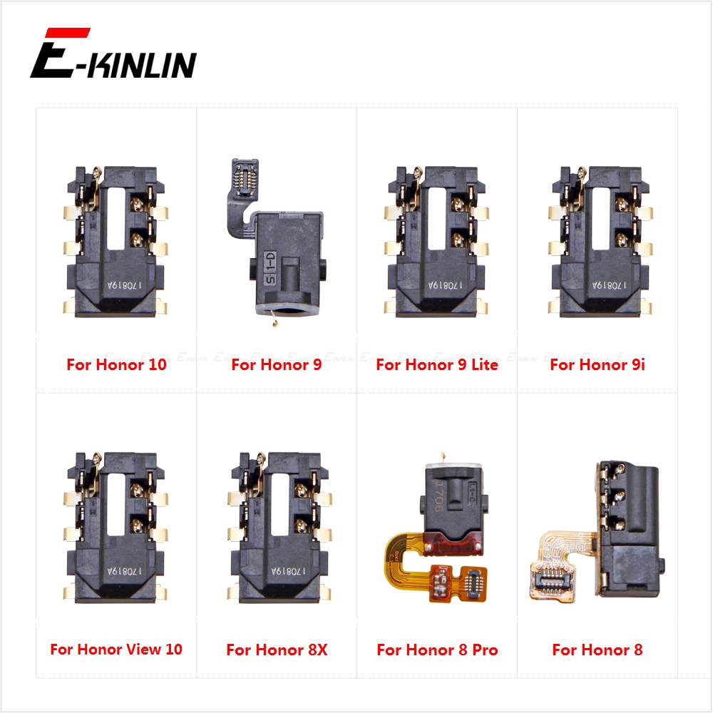 Ear Earphone Port Connector Headphone Jack Audio Flex For HuaWei Honor View 10 9 Lite I9 8X 8 Pro Repair Parts