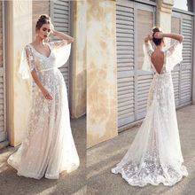 2019 New Women See Through Floral V-Neck Elegant Lace Long Dress Sexy Maxi Summer Evening Party Dresses White Vestidos cuerly sexy see through burgundy lace dress women summer high waist v neck dress elegant maxi long dress vestidos