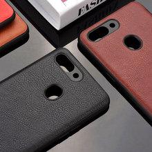 case for Oppo R15 pro realme 2 funda luxury Leather Vintage litchi pattern capa cover r15 realme2 coque