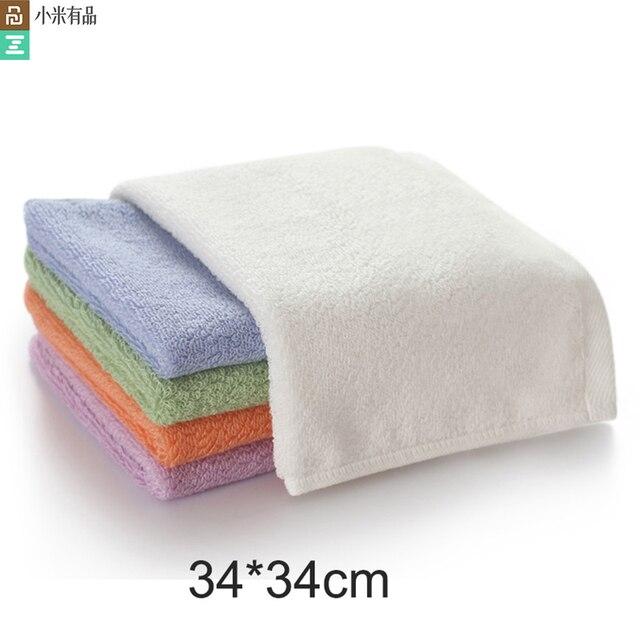 Serviette antibactérienne originale Youpin ZSH Polyegiene Young Series 100% coton 5 couleurs très absorbant bain visage petite serviette