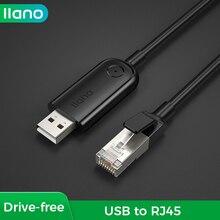 LLANO Cable USB a RJ45, adaptador de serie para enrutador, convertidor de ordenador, Cable USB, interruptor Ethernet