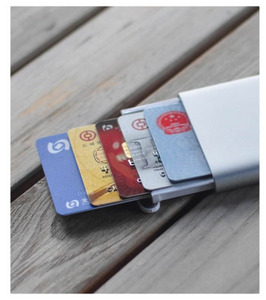 Image 3 - Orijinal Youpin kart durumda otomatik Pop Up erkekler iş kart tutucu İnce alüminyum kart durumda kredi kartı kimlik kartı depolama kaleci