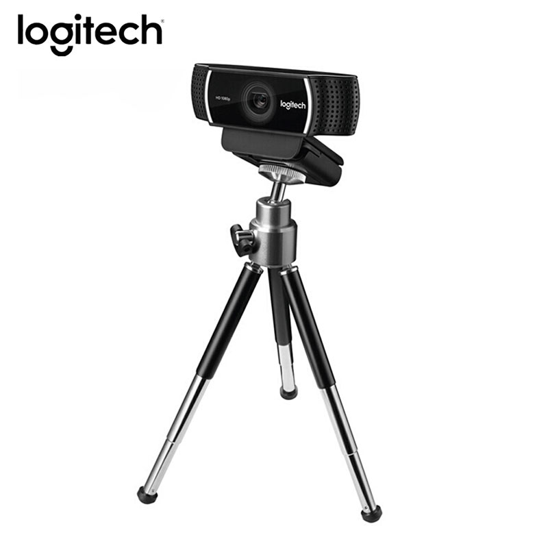 Logitech C922 Pro Autofocus Webcam With Microphone Streaming Video Web Cam 1080P Full HD Camera With Tripod