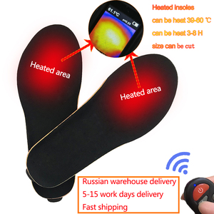 Image 4 - New Wireless Control Electric Heating Thermal Insoles Winter Warm Velvet 1800mAh Increase Heated Insoles for Men Women Shoe Pads