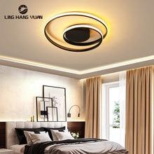 Modern Chandelier Black White Ceiling Mount Led Chandelier Lighting For Living room Bedroom Light Dining room Lustre Home Lamp