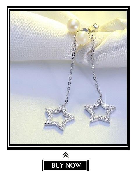 H1fc7251fd0f446f5b5c5cec01c637d4fC ORSA JEWELS 100% Real 925 Sterling Silver Pendants& Necklaces Shiny AAA Cubic Zircon Star Shape Women Fine Jewelry SN82