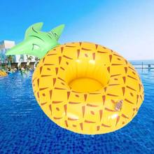 Cartoon Fruit Pineapple Cup Holder Inflatable Water Pool Toy Coaster Floating Drink Cups Holders(China)