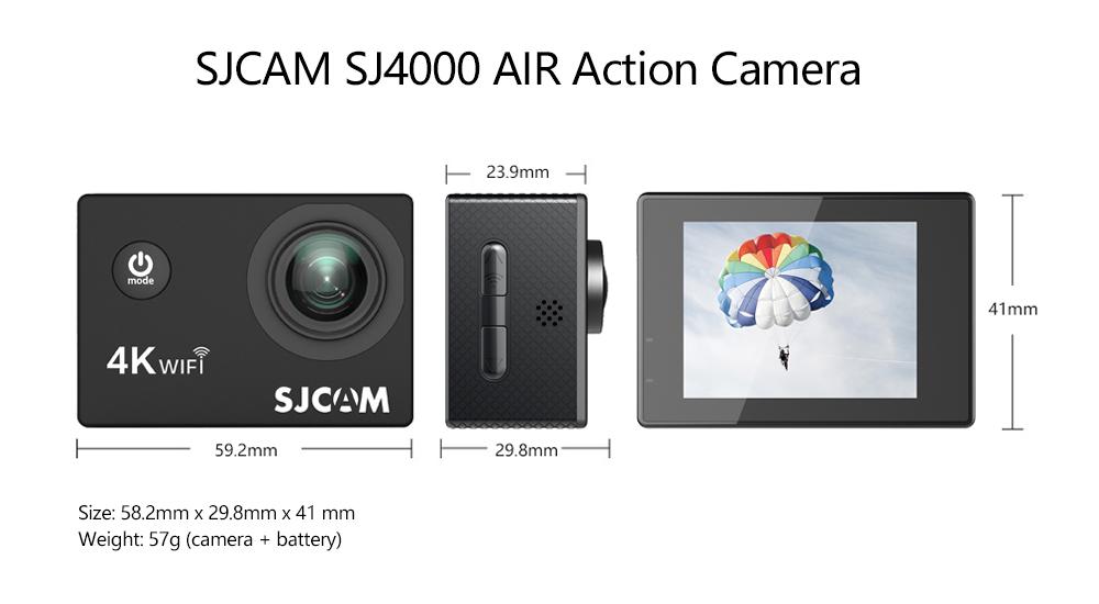 "SJCAM SJ4000 Cámara de Acción Full HD 4K 30FPS WIFI 2,0 ""Pantalla Mini casco impermeable deportes DV Cámara 13"