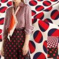 Polka Dot Gedruckt Polyester Druck Stoff Italienischen G Marke Mode Kleidung Hemd Pyjamas Tuch Stoffe für Kleid Nähen Meter