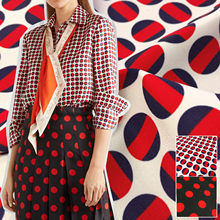 Polka Dot Printed Polyester Printing Fabric Italian G Brand Fashion Clothing Shirt Pajamas Cloth Fabrics for Dress Sewing Meter