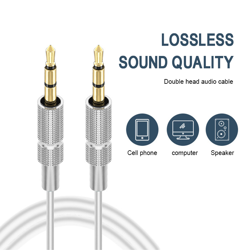 3.5mm Car Headphone Speaker Wire Line Car Aux Audio Cable Aux Cord For Xiaomi Cable Stereo Public Audio Line Car Accessories