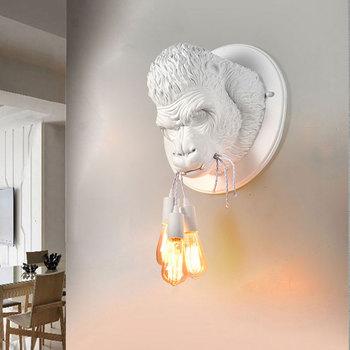 Nordic Harz Gorilla Wand Leuchte Lampe Retro Moderne Led ...