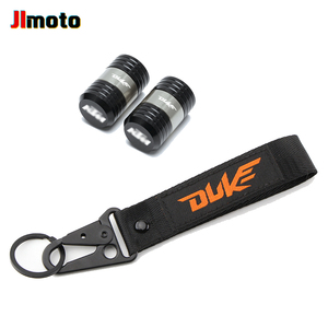 Image 4 - For KTM Duke 125 200 250 390 690 Motorcycle CNC Accessories Wheel Tire Valve Caps Cover Embroidery Key Chain Keychain