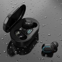 TWS e7sワイヤレスヘッドセット,スポーツイヤホン,防水,9dステレオ,サウンド,ノイズキャンセリング,マイクボックス付き,5.0