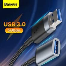 Baseus USB uzatma kablosu USB 3.0 erkek kadın USB3.0 2.0 mikro B PS4 Xbox One PS Vita SSD akıllı TV genişletici kablosu kablosu
