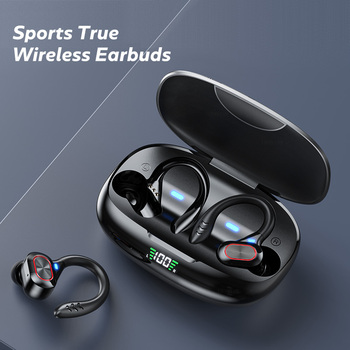 TWS Wireless Earphones Waterproof HiFi Stereo Sport Headsets LED Display Bluetooth-Compatible Headphones Earbuds With Microphone 6