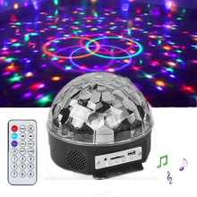 Speaker Disco Ball Light with Mp3 Player Laser Party 6W DJ Stage Projection Lamp KTV  Music