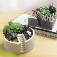 Creative Molds for Concrete DIY Clay Molds planter mold Cement pot mold