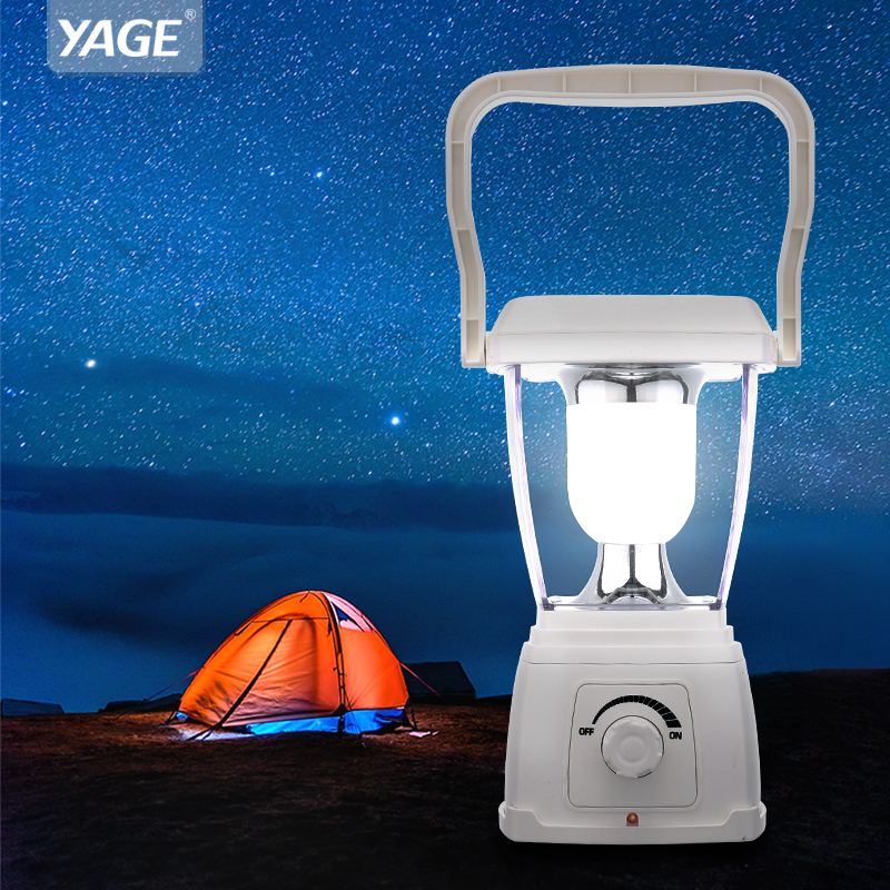 YAGE Rechargeable Solar Powered Lantern Stepless Dimming Portable Light Hangable Lantern Led Outdoor Camping Hiking Tent Light