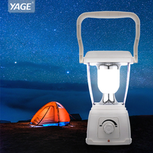 цена на YAGE Rechargeable Solar Powered Lantern Stepless Dimming Portable Light Hangable Lantern Led Outdoor Camping Hiking Tent Light