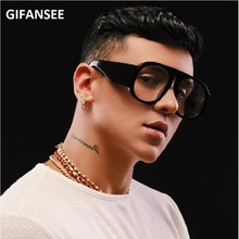 GIFANSEE Gradient Frame Oversized Sunglasses men women Luxury Brand