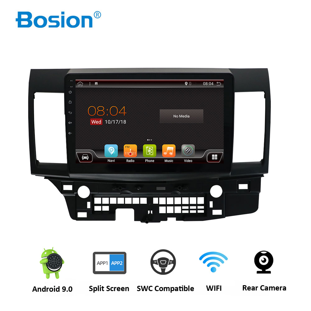 Bosion Android 9.0 Auto Radio für Mitsubishi lancer 10 inch Octa Core wifi Bluetooth video audio Multimedia <font><b>2</b></font> <font><b>din</b></font> auto dvd player image