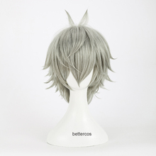 Cosplay Wigs Nagisa-Kaworu Short Synthetic-Hair Wig-Cap EVA Mixed-Grey Heat-Resistant
