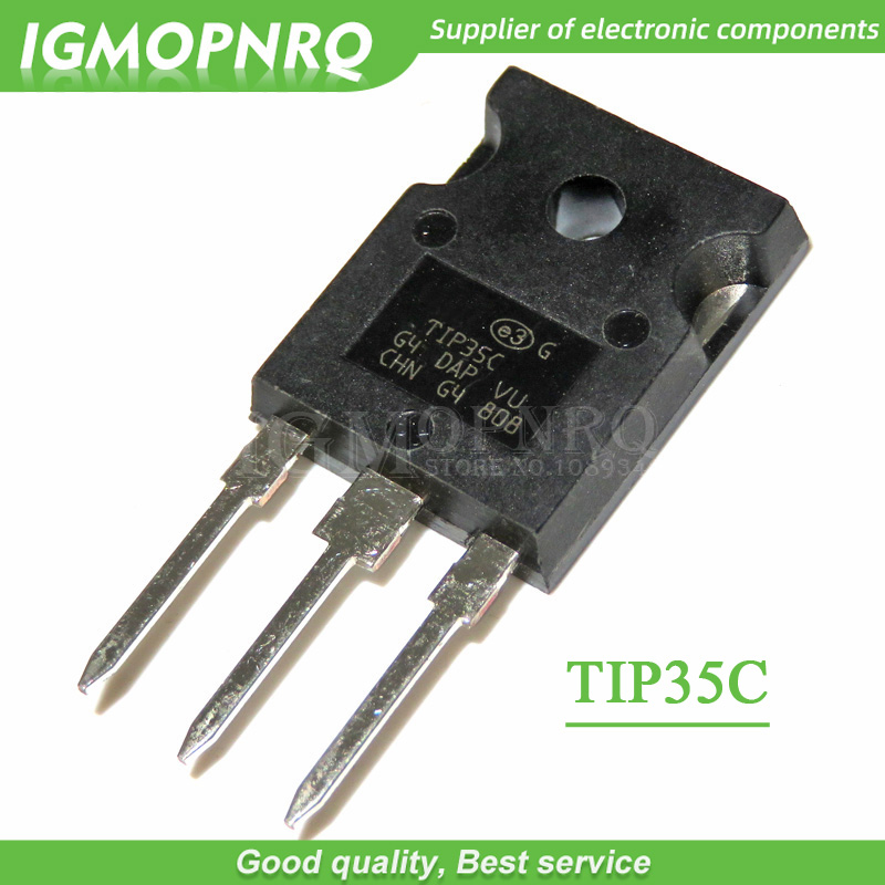 10PCS TIP35C TIP35 TO-247 100V/25A/125W NPN  Transistor New Original
