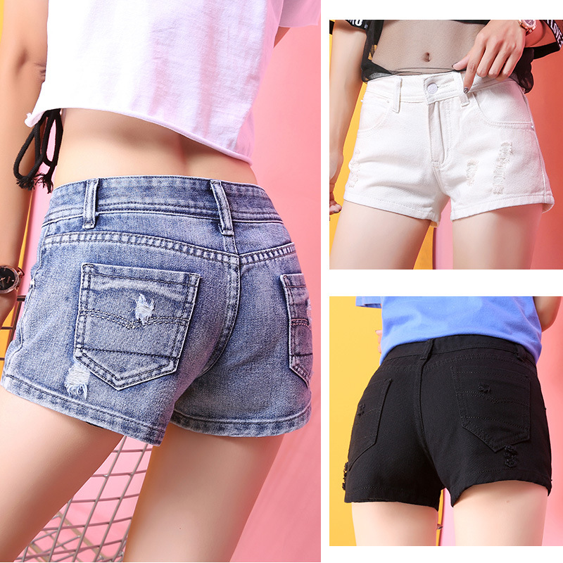 Shorts 2018 New Style Korean-style Shorts Jeans Women's With Holes Loose-Fit Students Hot Pants Cool GIRL'S Summer