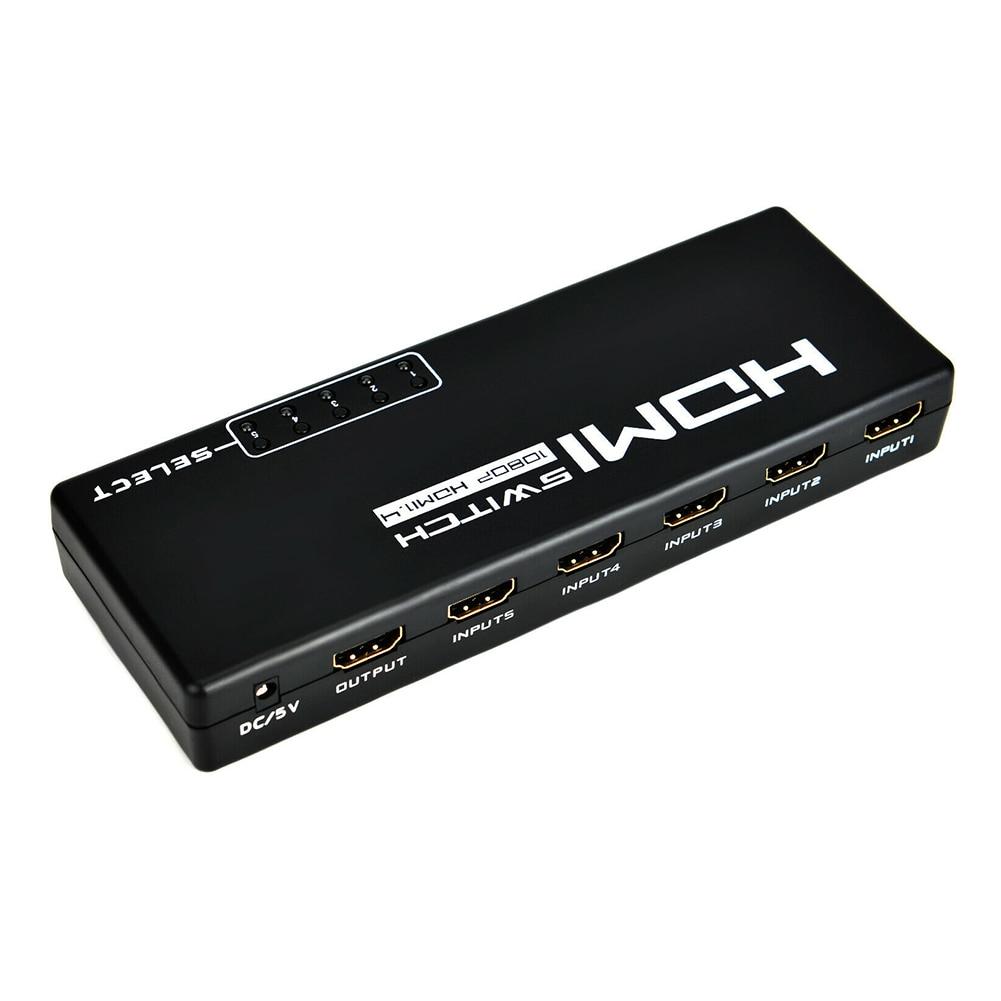 Разъем сплиттер ABS высокоскоростной конверсионные аксессуары с пультом дистанционного управления профессиональный адаптер 5 вход 1 выход сплошной HDMI