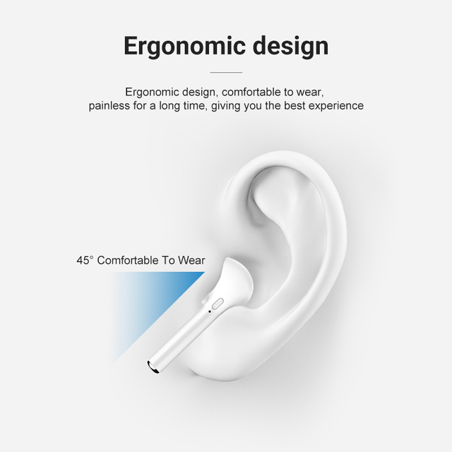 i7Mini TWS Wireless Headphones for iOS Earphones Support Bluetooth-compatible Wireless Sports Waterproof Headset with Microphone 3