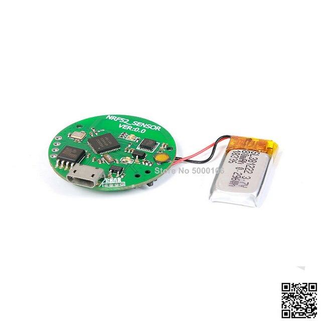NRF52832 52810 צמיד פיתוח לוח Bluetooth 4.0 4.1BLE תשע ציר תנועה חיישן ללא דיור