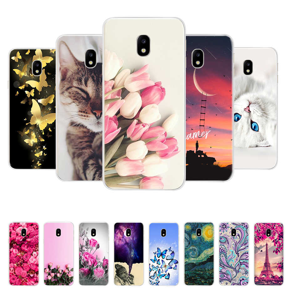 FOR Coque Samsung J7 2017 Case Cover J730 Soft TPU Silicone Cute Animals Back Phone Cases FOR Funda Samsung Galaxy J7 2017 Case