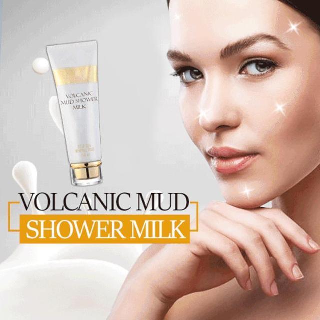 Whitening Volcanic Mud Bath Milk Cream Body Wash Exfoliating Body Lotion for Men Women SSwell 1