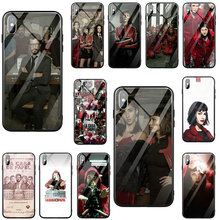 Tempered Glass Mobile Phone Cases for iphone 7 6S 6 8 Plus X XR XS 11 Pro Max Coque TV The Paper House Money Heist