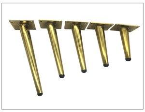 Image 4 - Patas de Metal para muebles, patas de hierro dorado Negro para sofá, mesa oblicua, pie de mesa de 12/15/17/20/25/30/36/38/42cm de altura, 4 Uds.