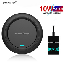 Qi Wireless Charger Pad & Receiver 10W Fast Charging For Samsung S20 S10 iPhone 11 Pro Xs Max X 8 Plus Wireless Quick Charge Set