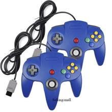 N64 controlador gamepad joystick joypad jogo longo wired para clássico 64 consoles jogos n64 interface de porta transparente