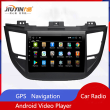 JIUYIN Car Radio Multimedia no 2 Din Android Video Player Navigation GPS For Hyundai Tucson 2015