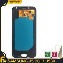 Telefony komórkowe AMOLED lcd do Samsung Galaxy J5 2017 J530 SM-J530F J530M wyświetlacz 100 testowany działający zespół ekranu dotykowego tanie tanio lianganbing Pojemnościowy ekran 1280x720 3 For Samsung Galaxy J5 2017 J530 SM-J530F J530M Nowy One by one test Skyblue Black Gold