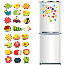 Fridge Magnet Toys Sticker Refrigerator-Toy Wooden Animals Funny Novelty Colorful Baby