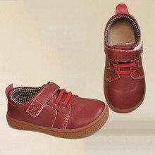 PEKNY BOSA zapatos de cuero para niños, calzado de suela blanda, zapatillas de cuero, color marrón, rojo, 25 35