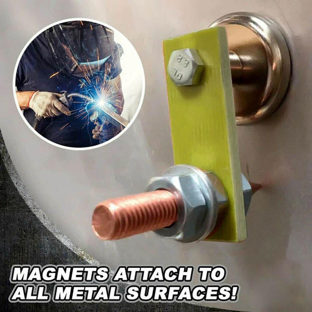 Magnet Head Magnetic Ground Clamp Metal Plate Welding Support Accessories Insulator Professional Magnetic Soldering Repair Tools