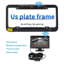 Solar Powered US Car Wireless Rear View Backup Camera Digital License Plate Frame For Car Truck Bus Trailer Accessories