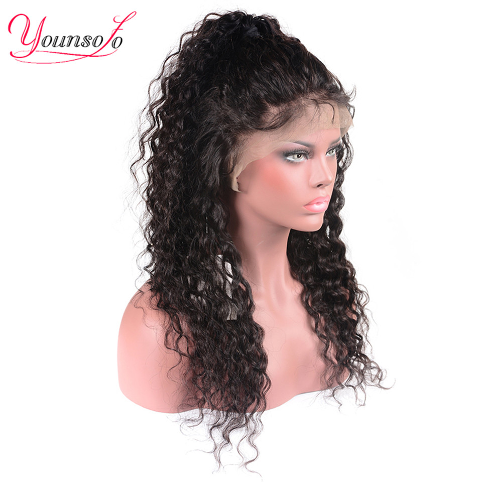 H1fc92e8dfaf64968b16e4c4b749daeadm Younsolo 13x4 Lace Front Human Hair Wigs For Black Women Remy Brazilian Water Wave Lace Front Wig Pre Plucked With Baby Hair
