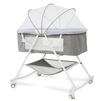 Baby Crib Multifunctional Comfort Portable Baby Bassinet Foldable Bed Infant Travel Sleeper Cot Breathable Folding Cribs